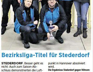 PAZ: Bezirksliga-Titel für Stederdorf