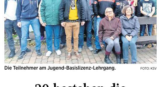 PAZ: Kreisschützenverband: Ausbildung für Jugendleiter