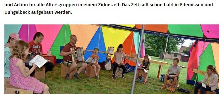 """PAZ: Evangelische Jugend lädt zu """"Hulli Gulli"""" im Zirkuszelt ein"""