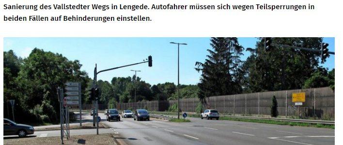 PAZ: Achtung: Straßenbauarbeiten in Peine und Lengede